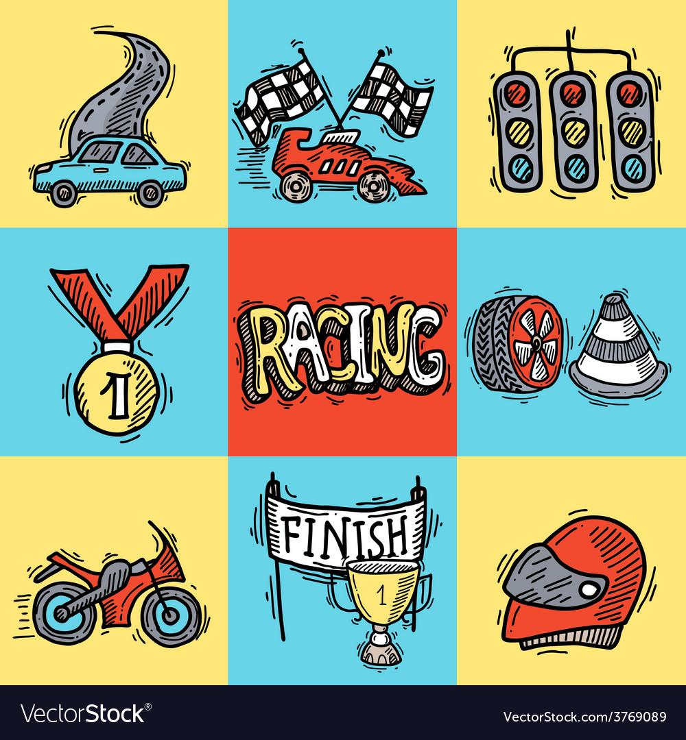 Racing design concept vector | Price: 1 Credit (USD $1)