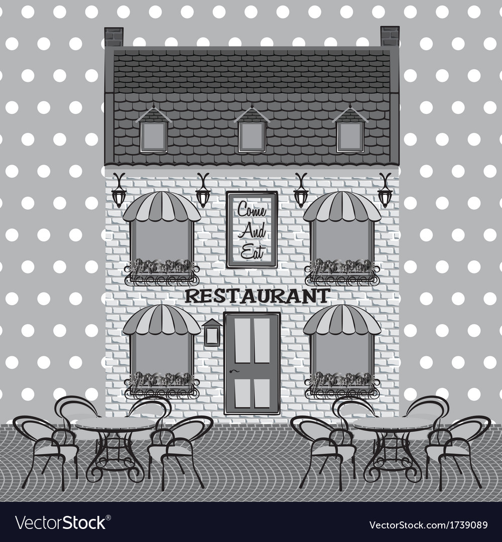Restaurant facade vector | Price: 1 Credit (USD $1)