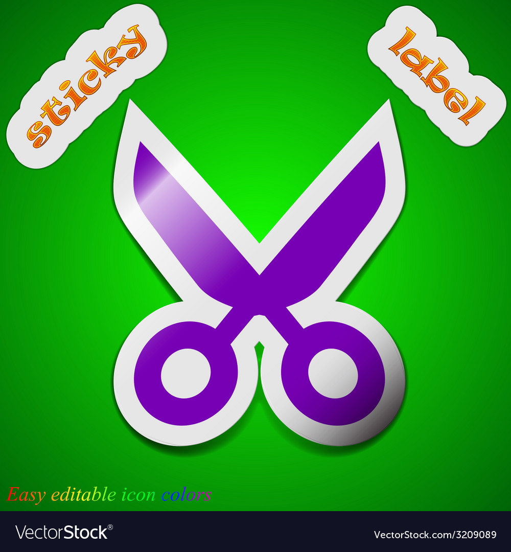 Scissors hairdresser icon sign symbol chic colored vector | Price: 1 Credit (USD $1)