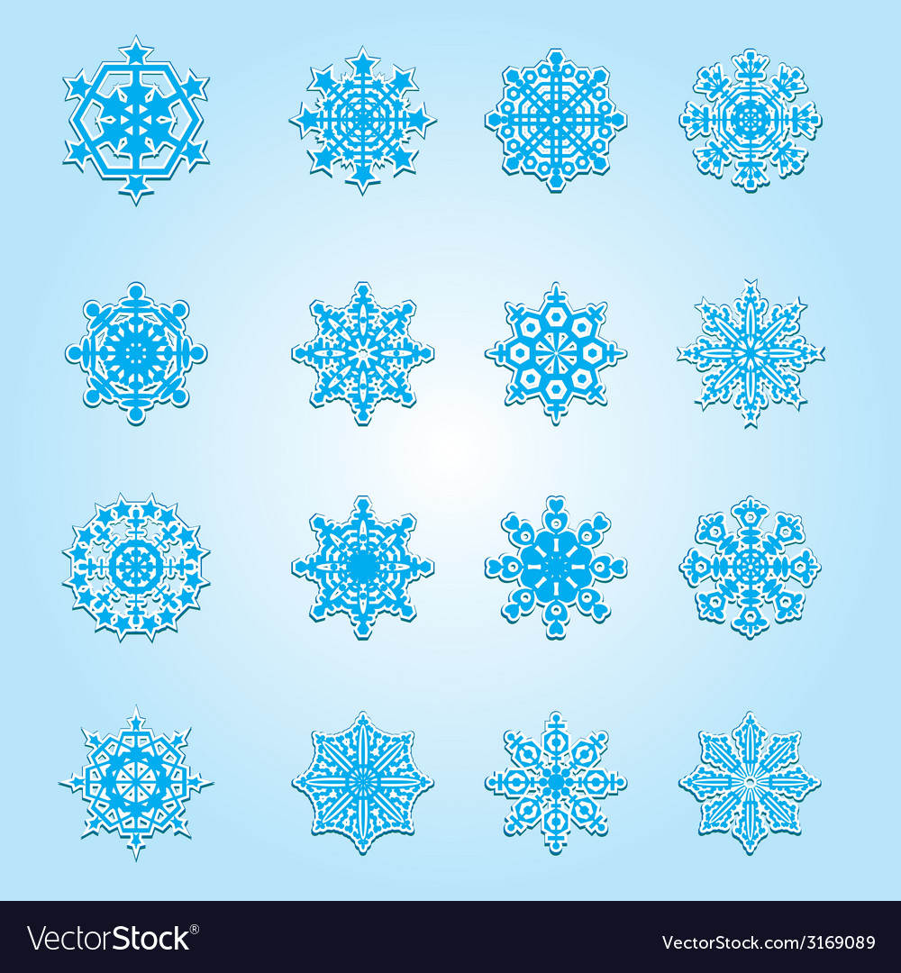 Set of christmas snowflakes vector | Price: 1 Credit (USD $1)