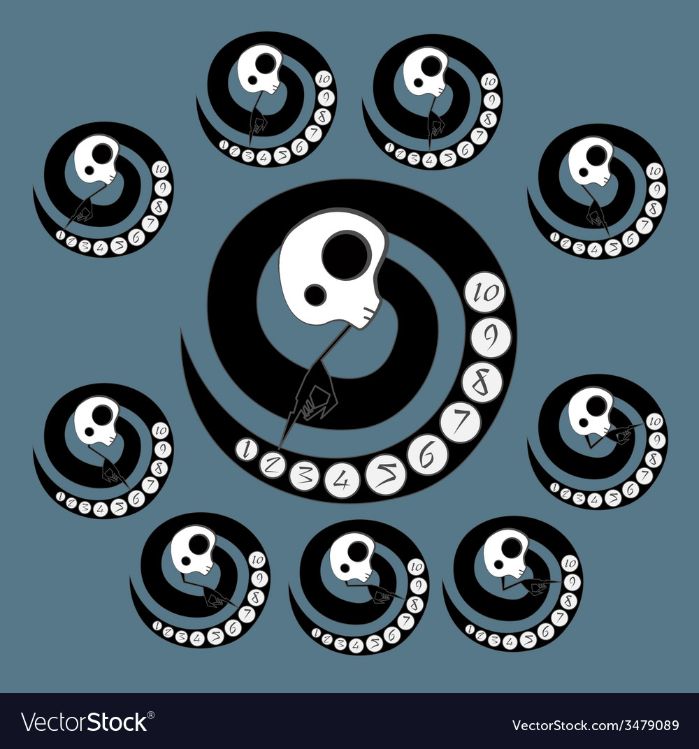 Skeleton dial with hand vector | Price: 1 Credit (USD $1)