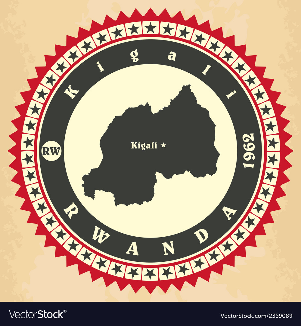 Vintage label-sticker cards of rwanda vector | Price: 1 Credit (USD $1)