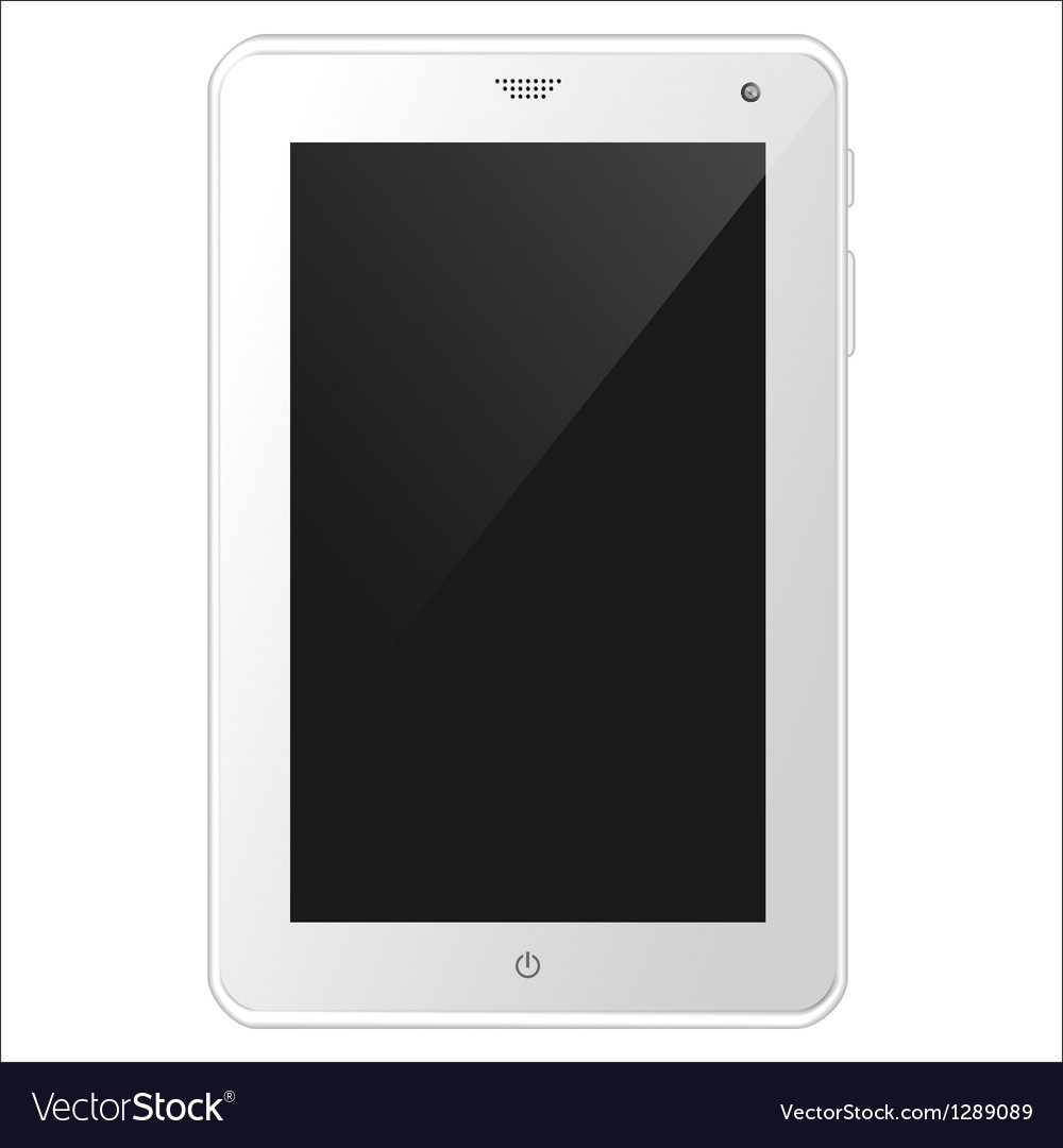 White tablet pc eps10 vector | Price: 1 Credit (USD $1)