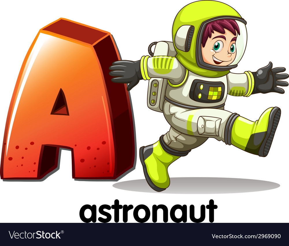 A letter a for astronaut vector | Price: 1 Credit (USD $1)