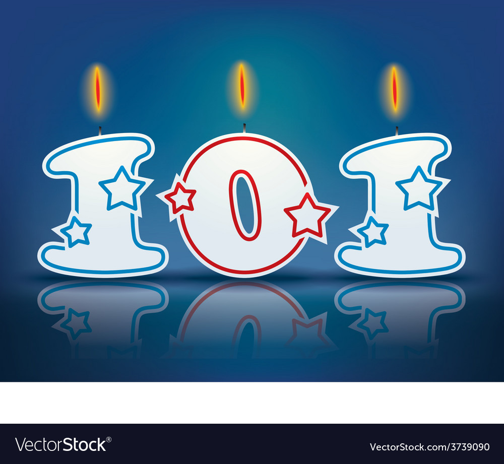 Birthday candle number 101 vector | Price: 1 Credit (USD $1)