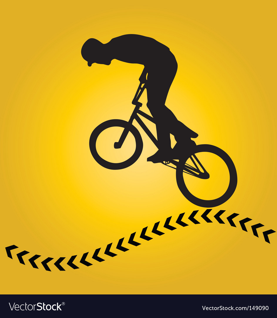 Bmx rider silhouette vector | Price: 1 Credit (USD $1)