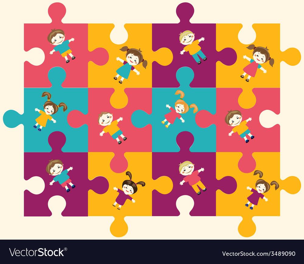 Children puzzle 2 38 vector   Price: 1 Credit (USD $1)