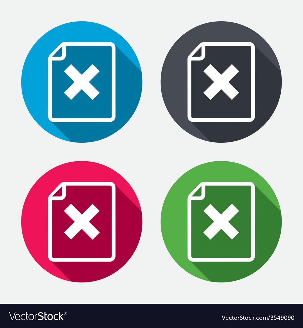 File document stop icon delete doc button vector | Price: 1 Credit (USD $1)