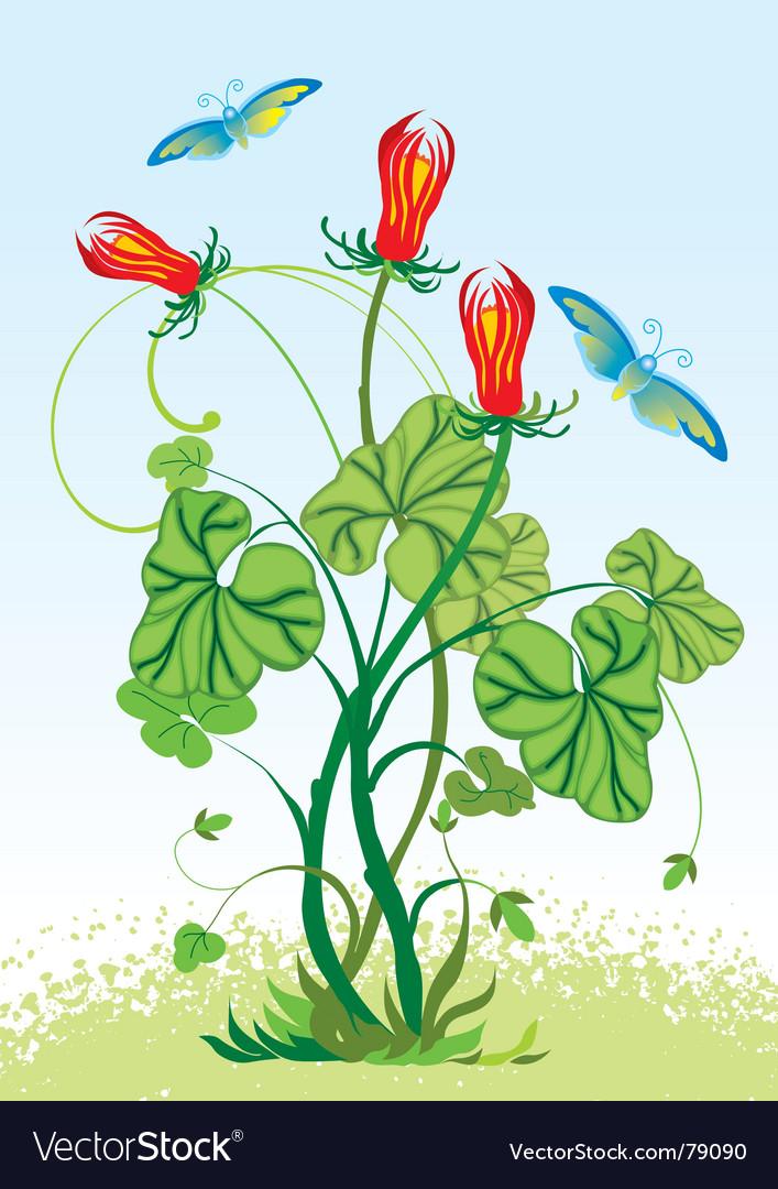 Floral vector   Price: 1 Credit (USD $1)