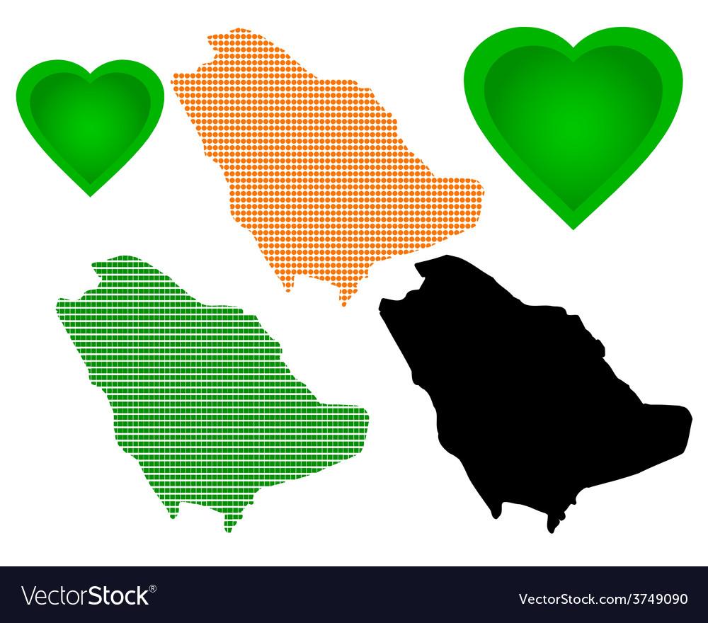 Map of saudi arabia vector | Price: 1 Credit (USD $1)