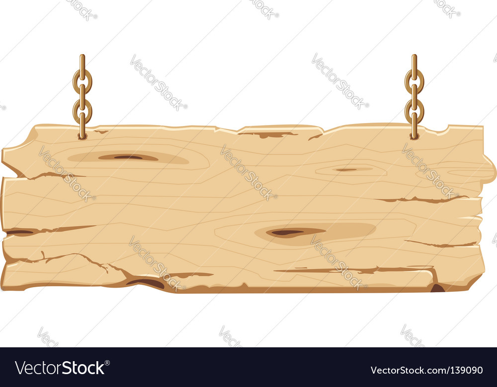 Old wooden signpost vector | Price: 1 Credit (USD $1)