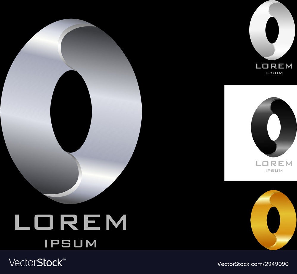 Oval sign logo design template black white gold vector | Price: 1 Credit (USD $1)
