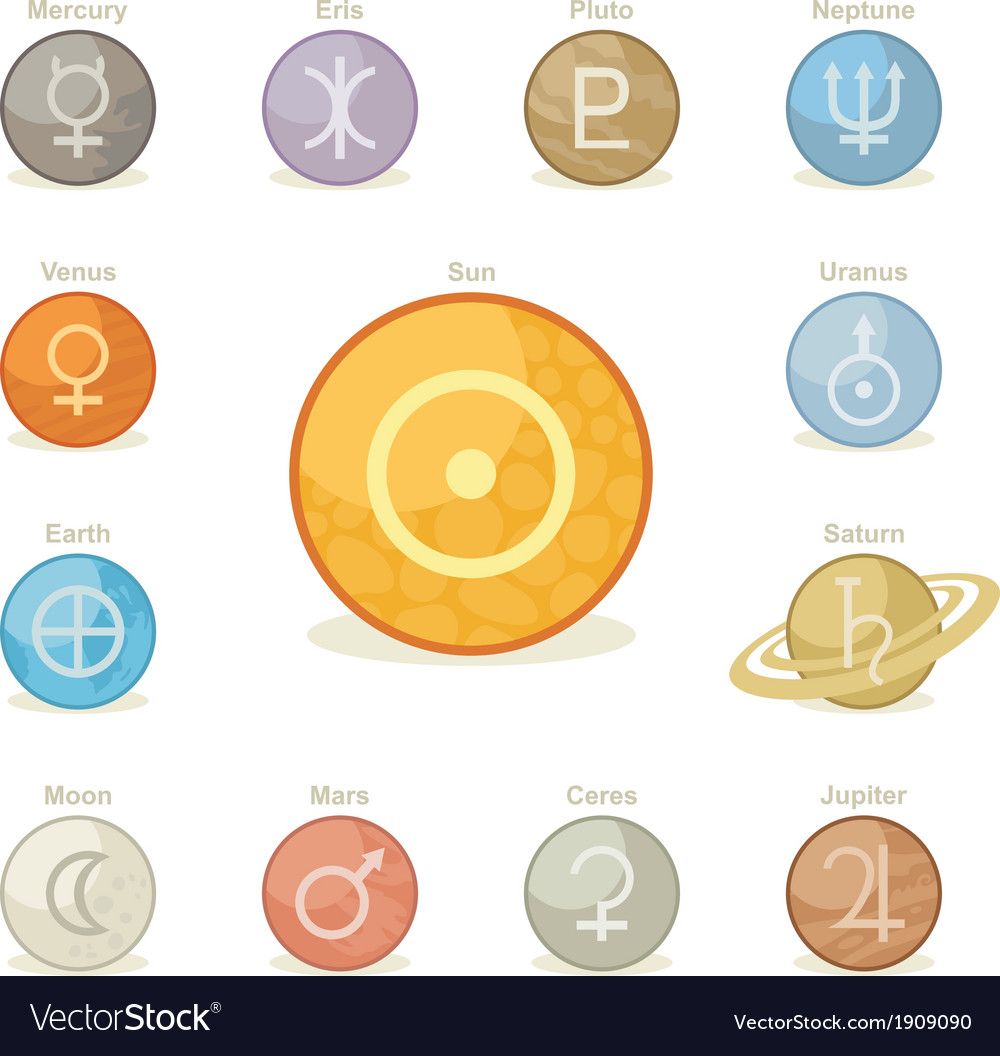 Planetary icons vector | Price: 1 Credit (USD $1)