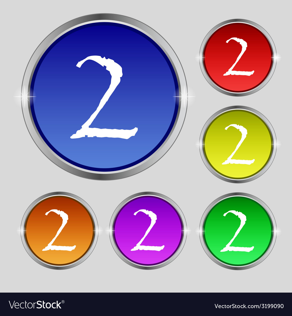 Second place award sign winner symbol step two set vector   Price: 1 Credit (USD $1)