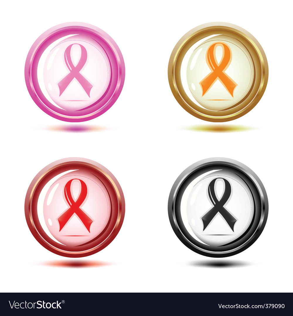 Set of support ribbon icons vector | Price: 1 Credit (USD $1)