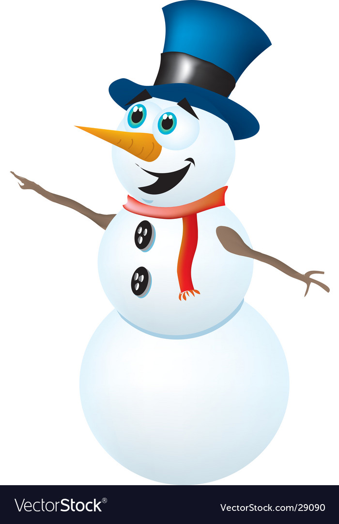 Snowman vector | Price:  Credit (USD $)
