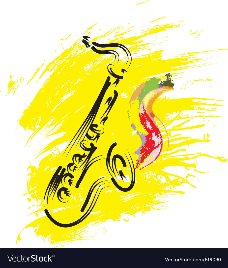 Stylized saxophone vector | Price: 1 Credit (USD $1)