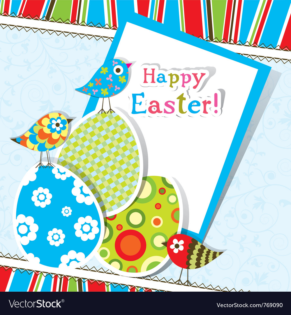 Template easter greeting card vector   Price: 1 Credit (USD $1)