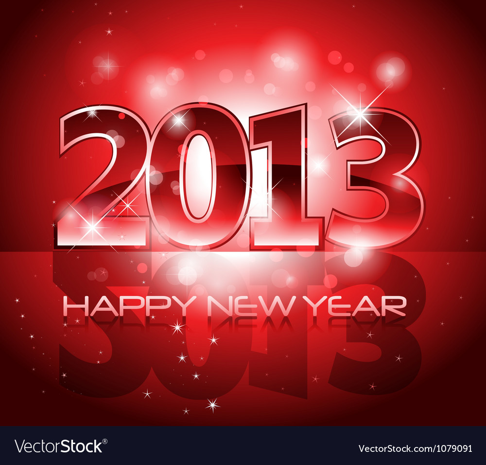 2013 new year shiny background vector | Price: 1 Credit (USD $1)