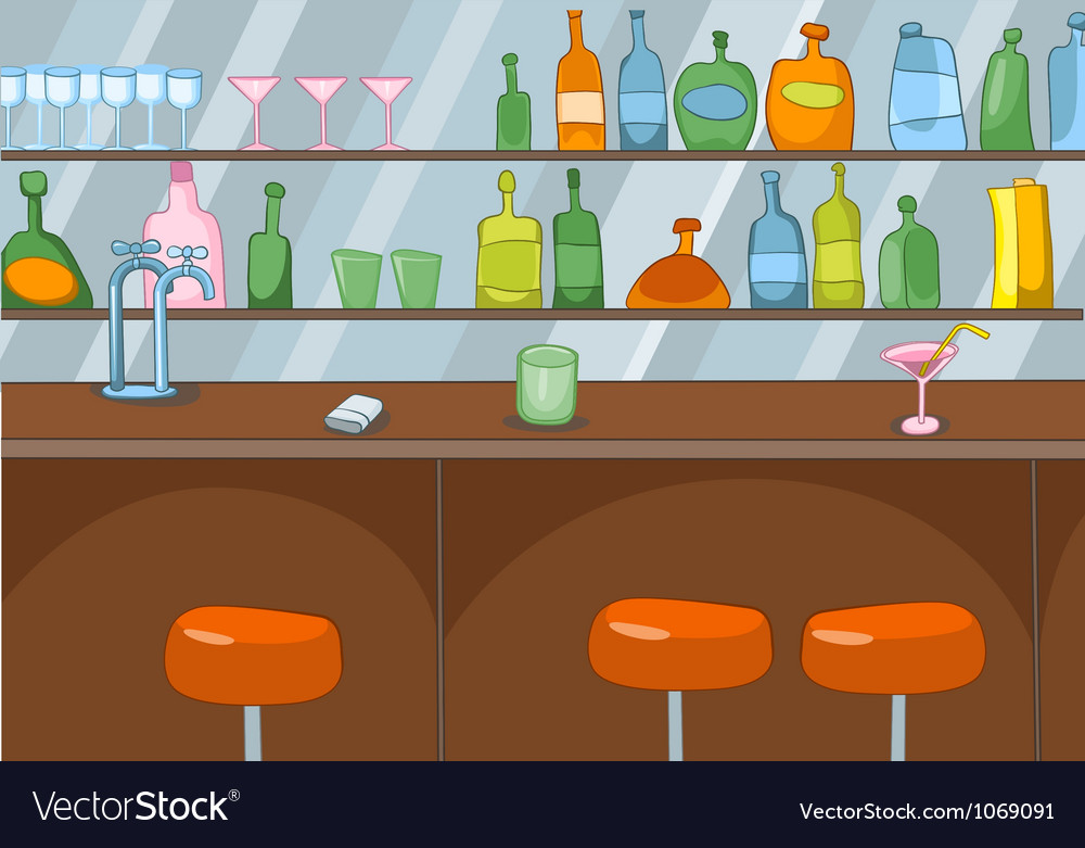 Bar cartoon vector | Price: 1 Credit (USD $1)
