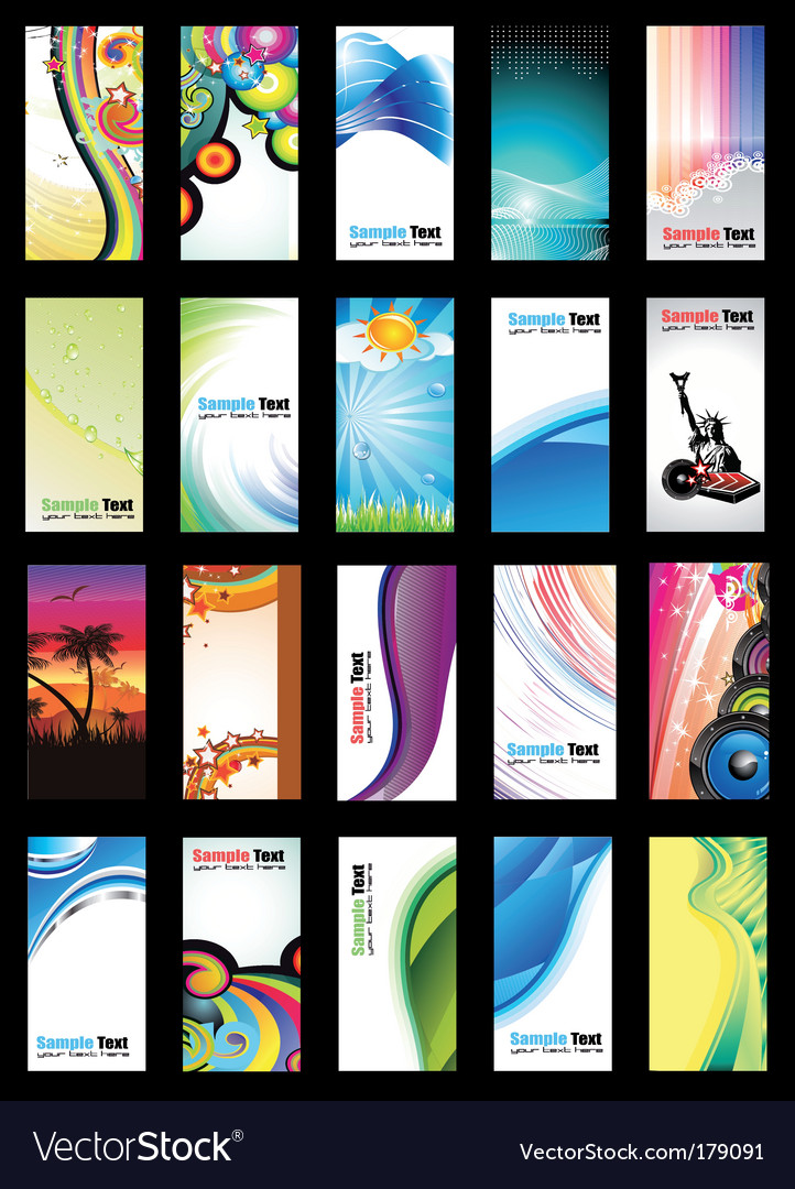 Business card collection set vector | Price: 3 Credit (USD $3)