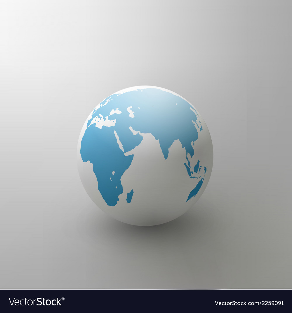 Gray globe element for design vector | Price: 1 Credit (USD $1)