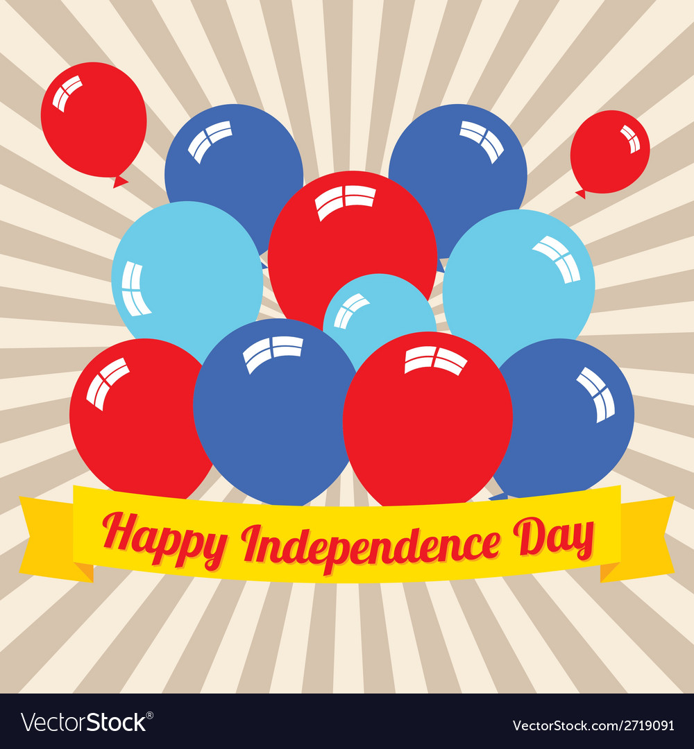 Happy independence day vector | Price: 1 Credit (USD $1)