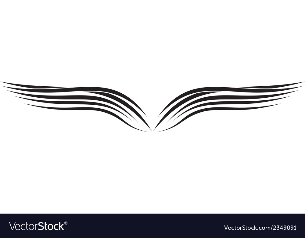 Ornament wing silhouette vector | Price: 1 Credit (USD $1)