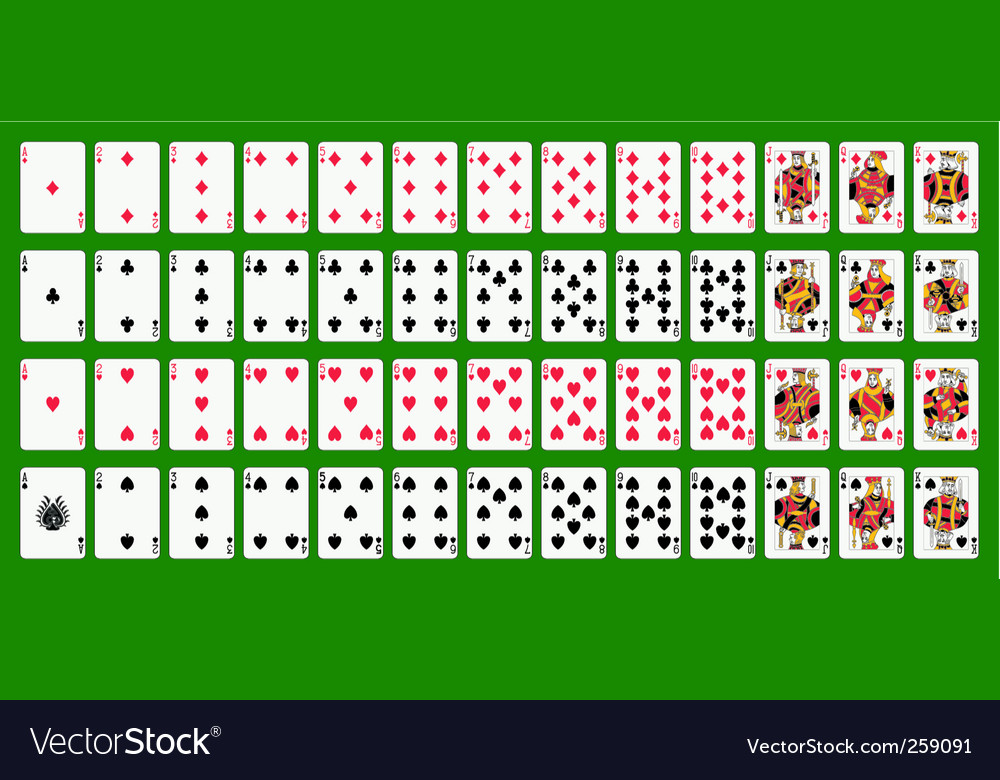 Poker playing cards full deck vector | Price: 1 Credit (USD $1)