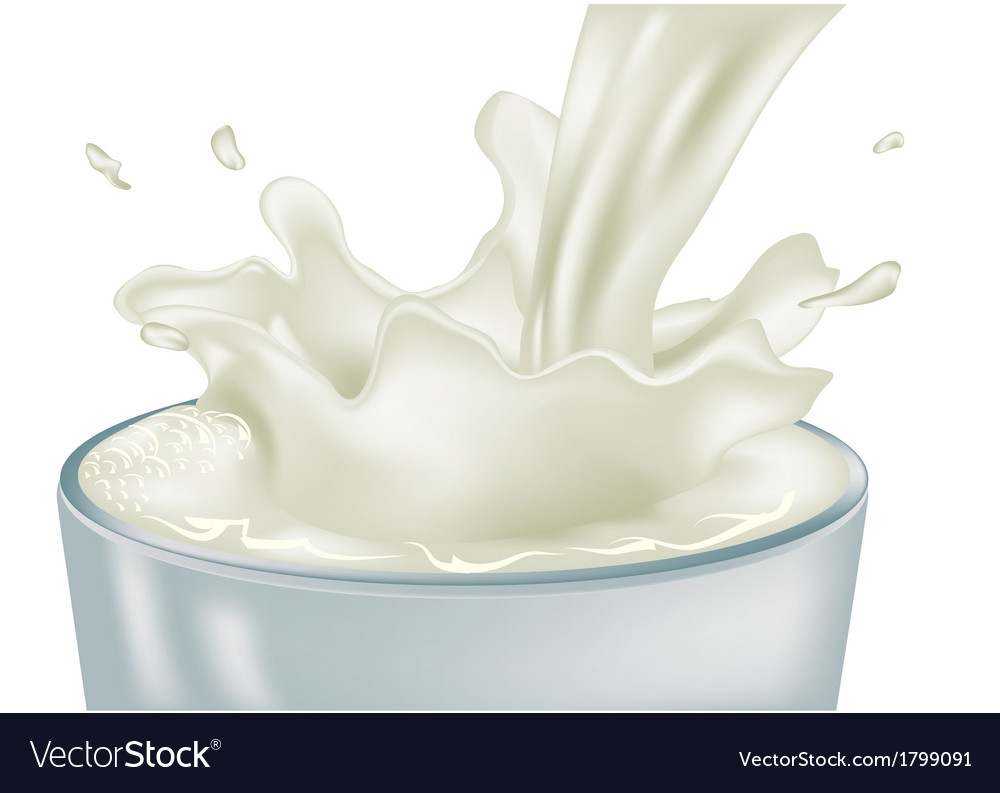 Pouring milk vector | Price: 1 Credit (USD $1)