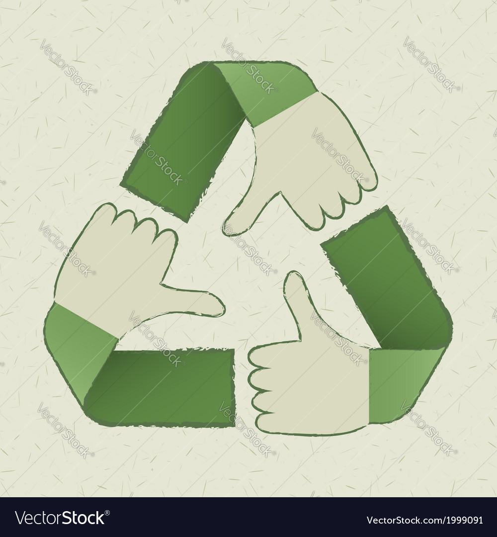 Recycle hands symbol vector | Price: 1 Credit (USD $1)