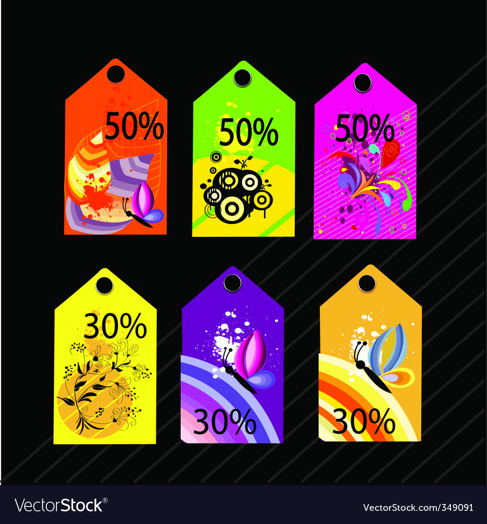Sales tags vector   Price: 1 Credit (USD $1)