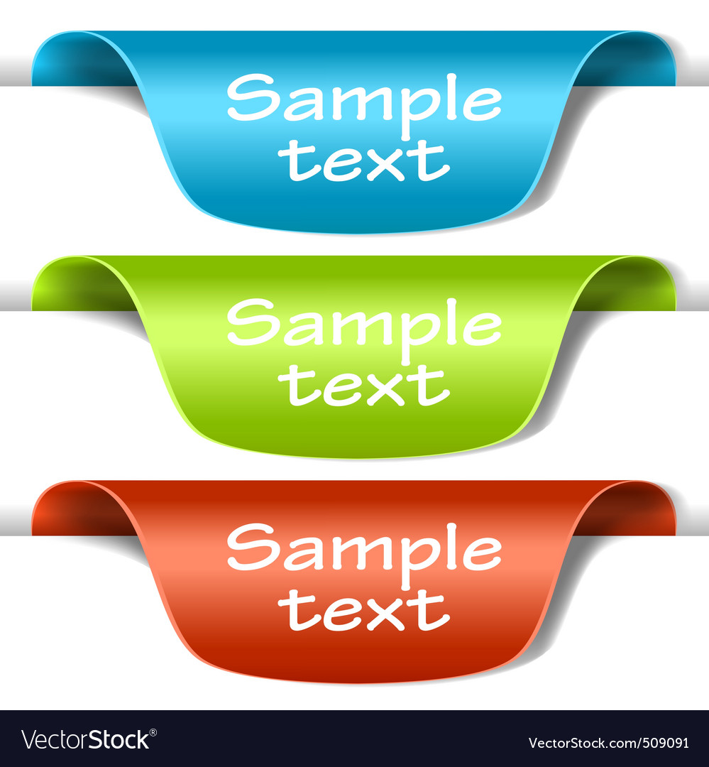 Set of multicolored tag labels vector | Price: 1 Credit (USD $1)