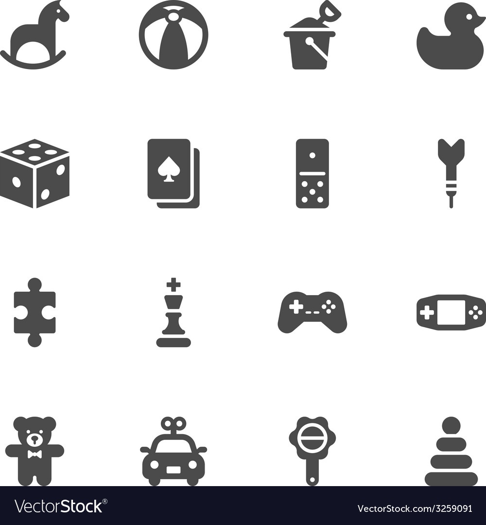 Toy icons vector | Price: 1 Credit (USD $1)