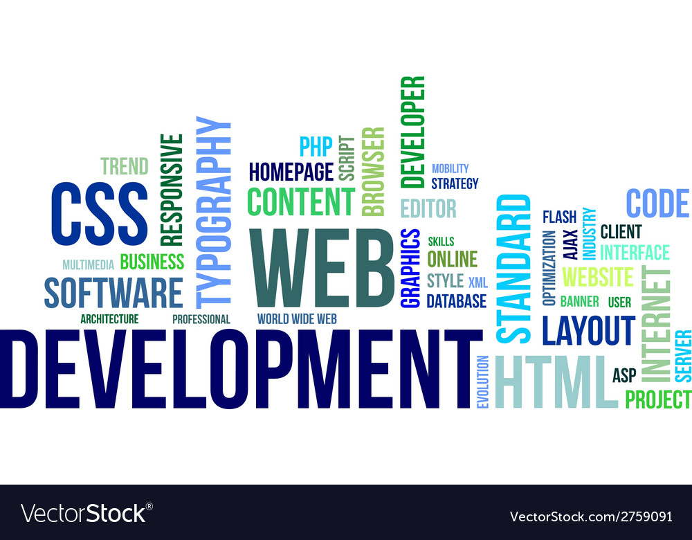 Word cloud web development vector | Price: 1 Credit (USD $1)
