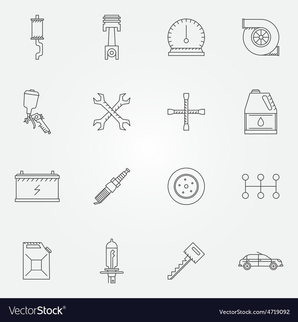 Auto service or repair icons vector | Price: 1 Credit (USD $1)