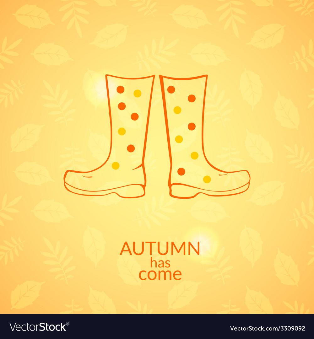 Autumn gumboots icon vector | Price: 1 Credit (USD $1)