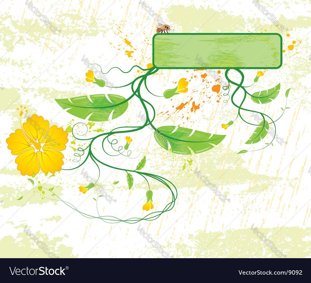 Background flower vector | Price: 1 Credit (USD $1)