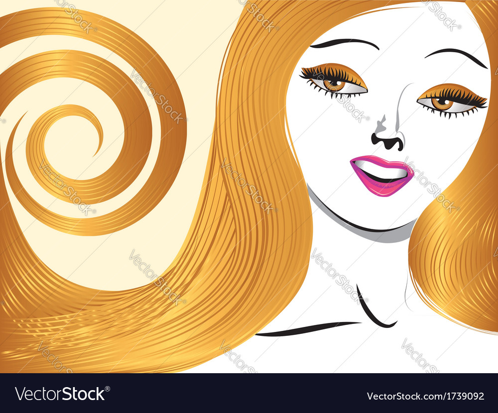 Blond girl with yellow eyes vector | Price: 1 Credit (USD $1)