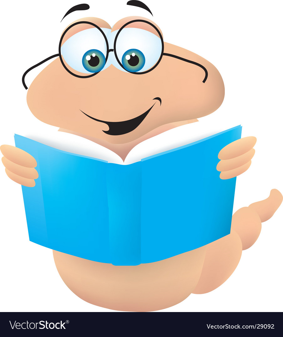 Bookworm vector | Price:  Credit (USD $)