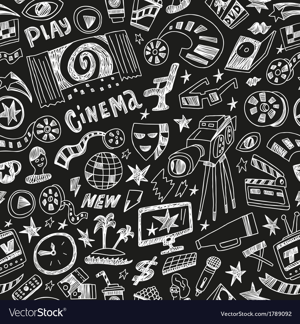 Cinema - seamless background vector | Price: 1 Credit (USD $1)