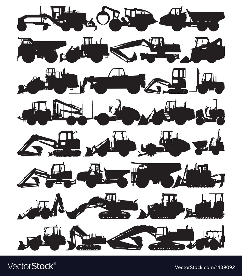 Construction equipment vector