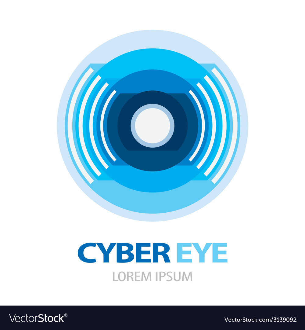 Cyber eye symbol icon vector | Price: 1 Credit (USD $1)