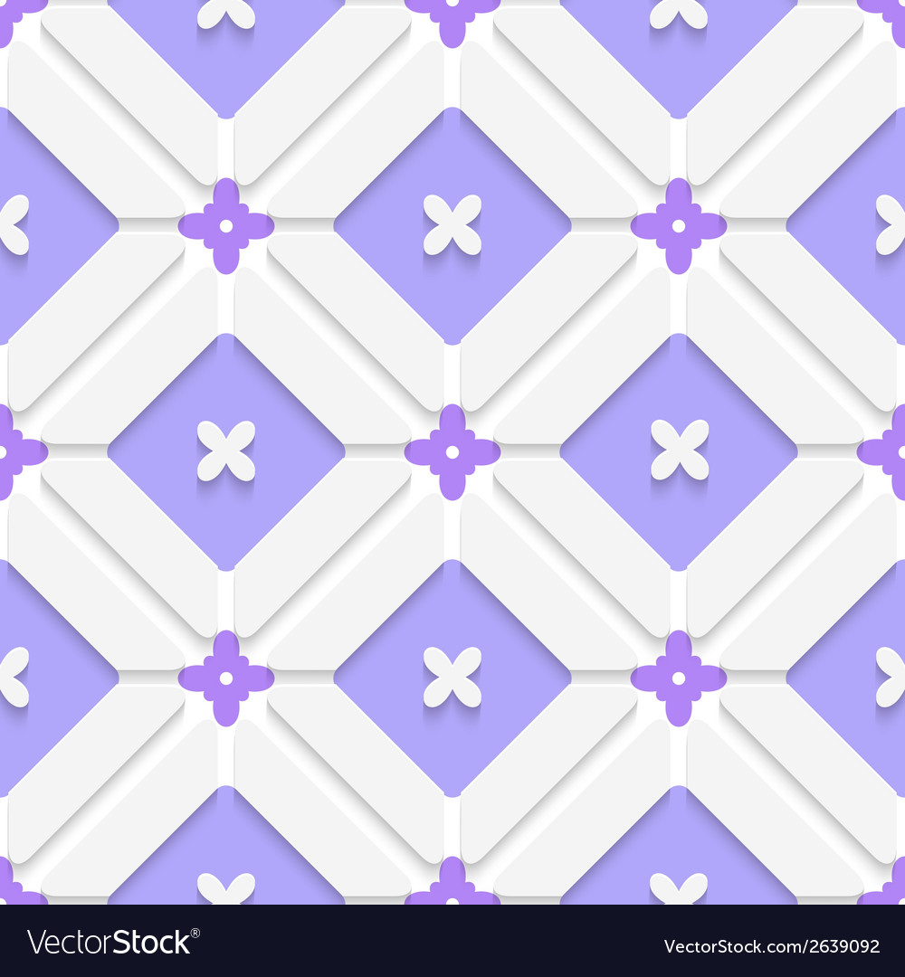 Diagonal purple floristic in frame pattern vector | Price: 1 Credit (USD $1)