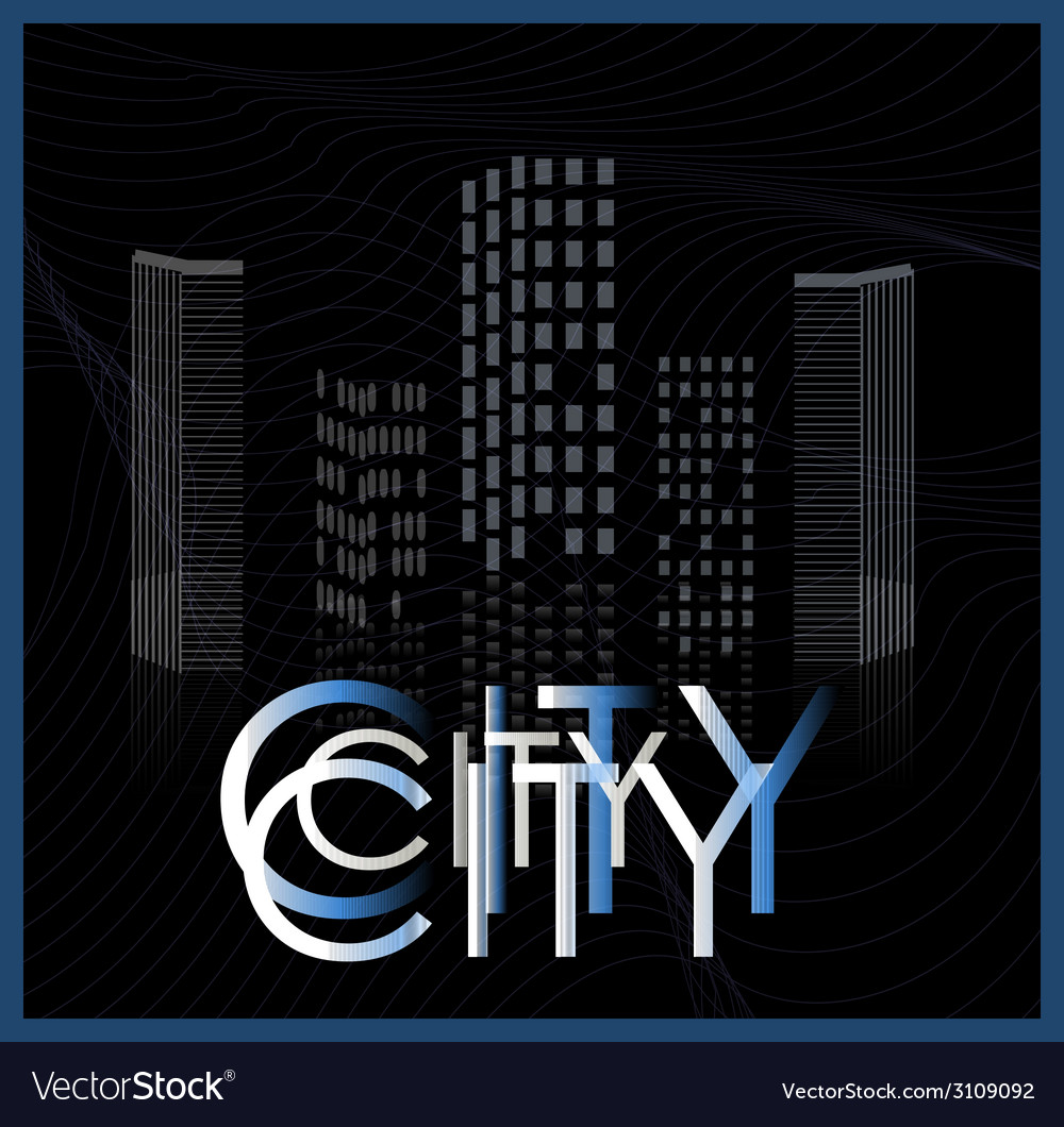 Graphical urban cityscape vector | Price: 1 Credit (USD $1)