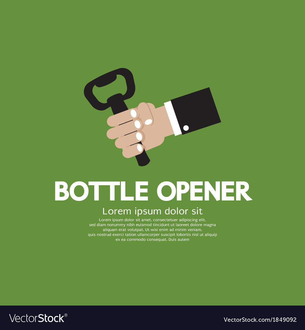Hand holding a bottle opener vector | Price: 1 Credit (USD $1)