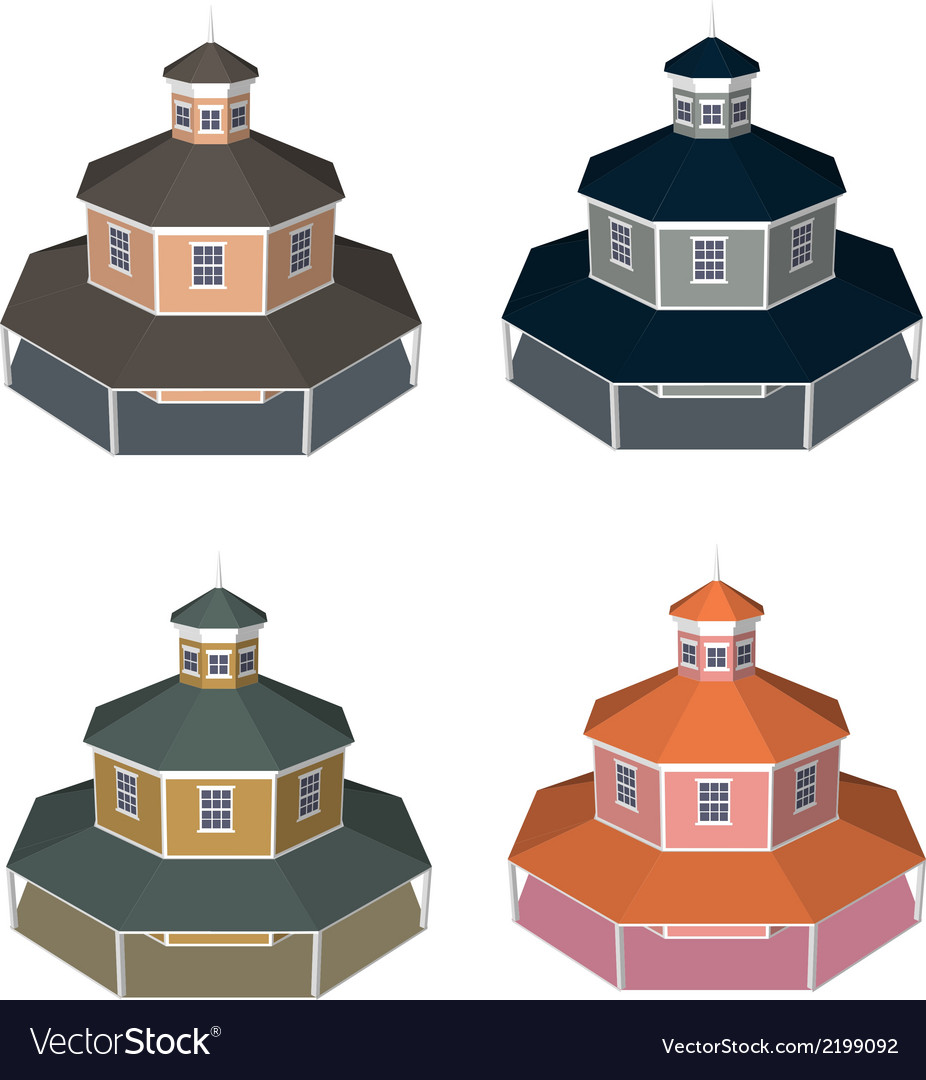 Isometric house style 4 vector | Price: 1 Credit (USD $1)