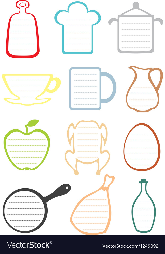 Kitchen note vector | Price: 1 Credit (USD $1)