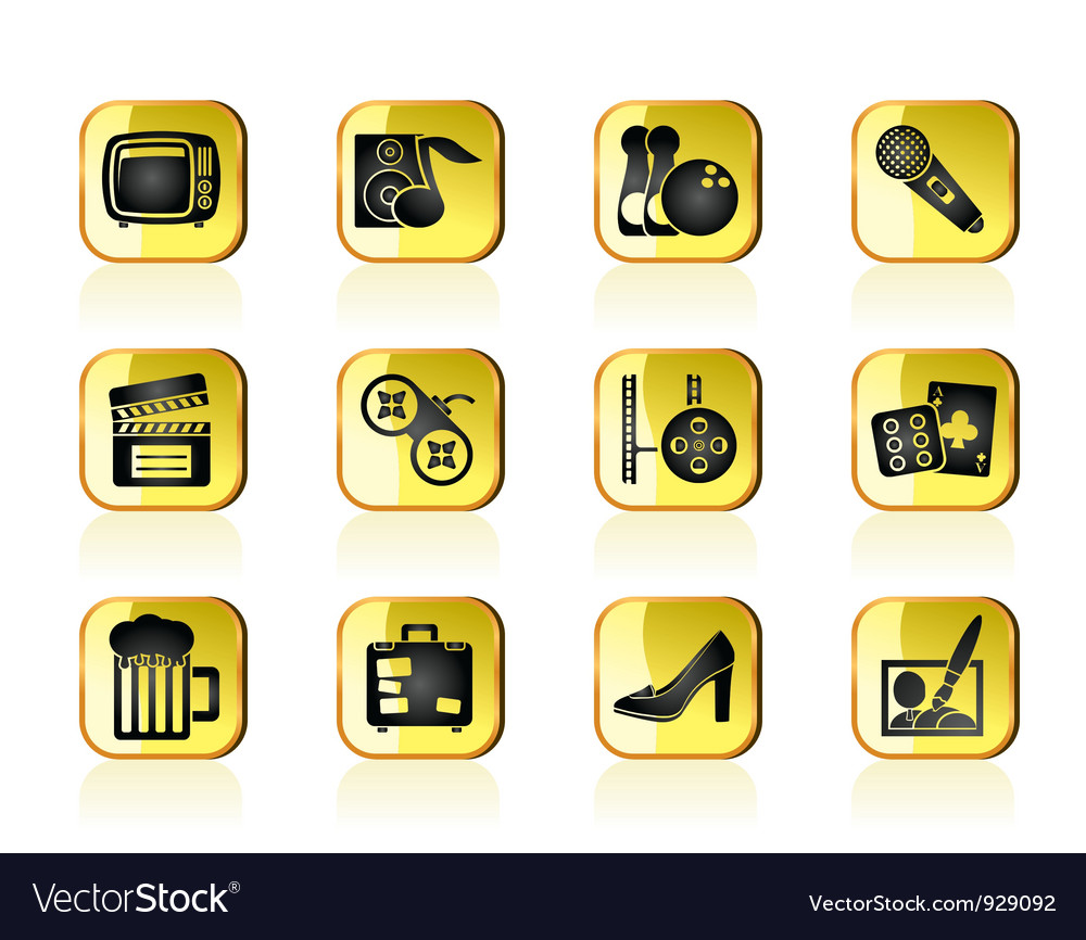 Leisure activity and objects icons vector | Price: 1 Credit (USD $1)