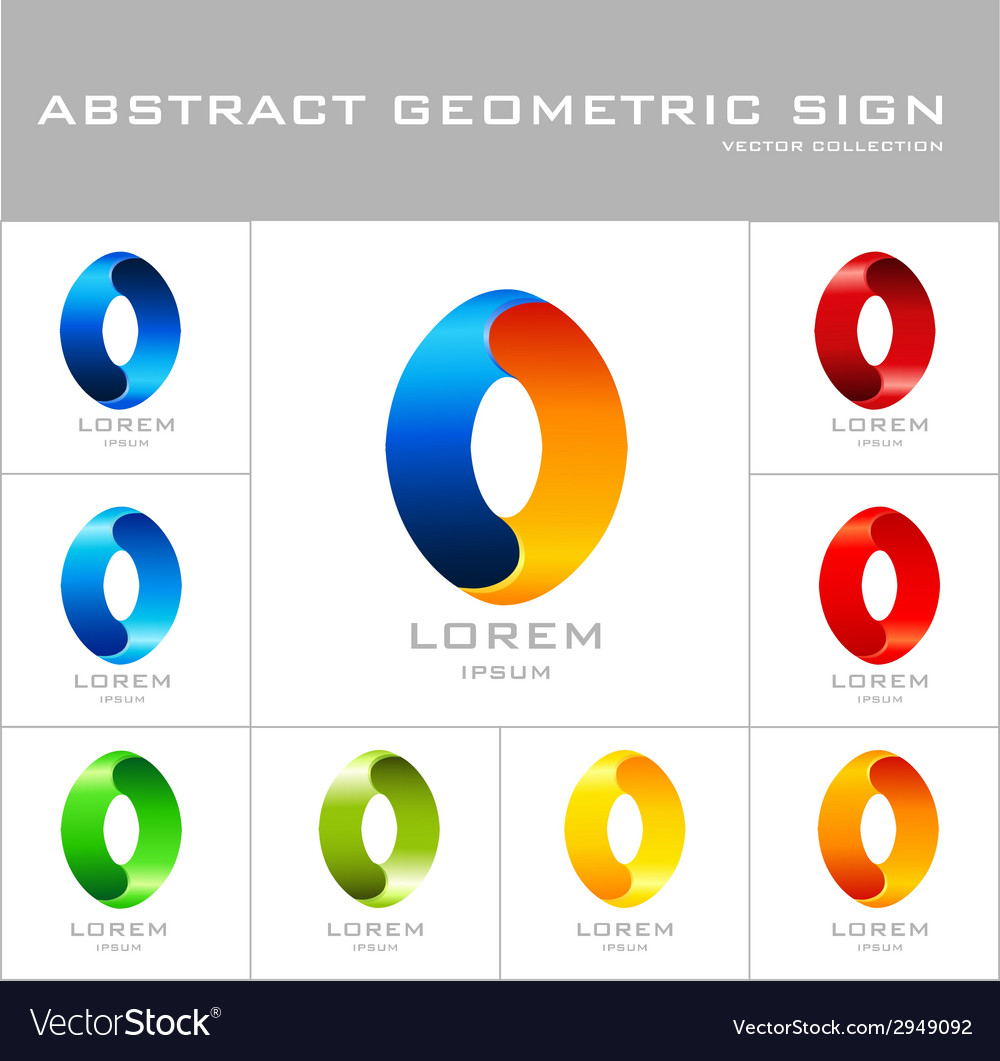 Oval sign logo design template vector | Price: 1 Credit (USD $1)